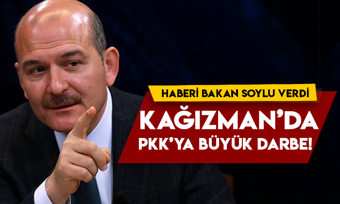 Haberi Bakan Soylu verdi! Kağızman'da PKK'ya büyük darbe