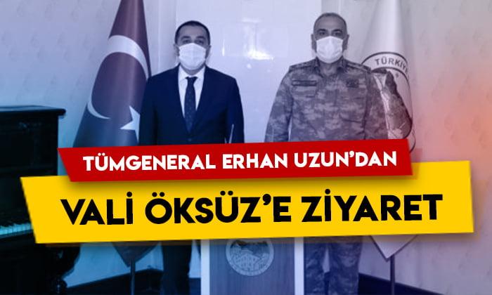 Tümgeneral Erhan Uzun'dan Vali Türker Öksüz'e ziyaret