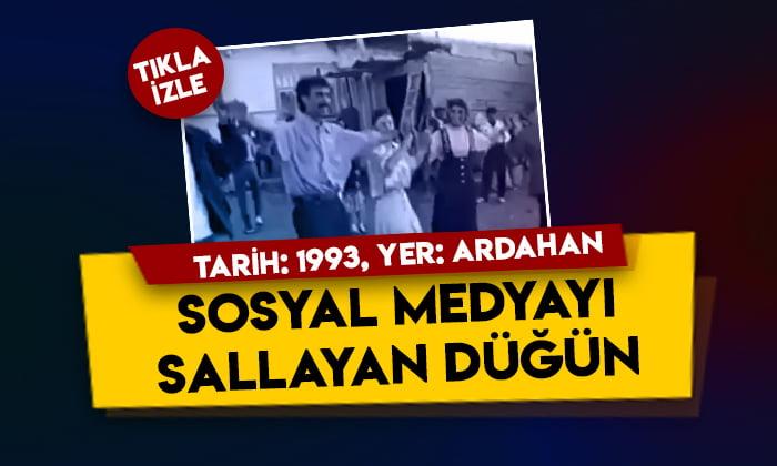 Tarih 1993: Sosyal medyayı sallayan Ardahan düğünü!