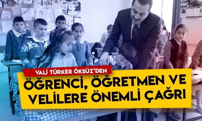 Kars Valisi Türker Öksüz'den öğrenci, öğretmen ve velilere önemli uyarı!