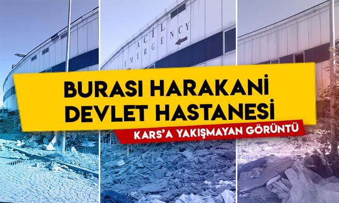 Kars'a yakışmayan görüntü: Burası Harakani Devlet Hastanesi!