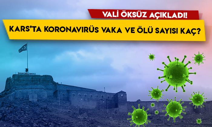 Kars'ta koronavirüs vaka ve ölü sayısı kaç? Vali Türker Öksüz rakamları paylaştı