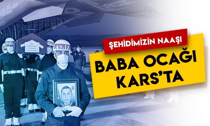 Şehit Er Volkan Soy'un naaşı baba ocağı Kars'ta