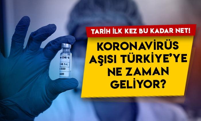 İlk kez bu kadar net bir tarih açıklandı: Koronavirüs aşısı Türkiye'ye ne zaman gelecek?