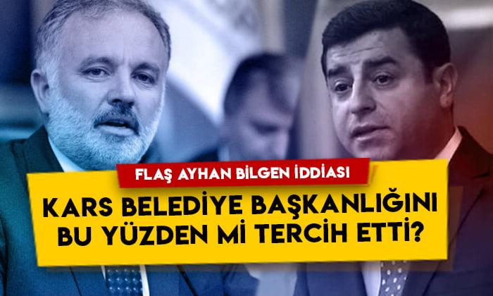 Ruşen Çakır'dan dikkat çeken iddia: Ayhan Bilgen Kars Belediye Başkanlığını bu yüzden mi tercih etti?