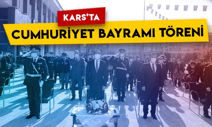 Kars'ta 29 Ekim Cumhuriyet Bayramı Töreni