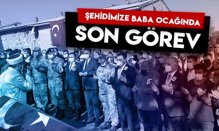 Şehit Er Volkan Soy'a baba ocağı Kars'ta son görev!