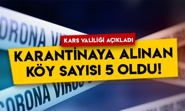 Kars Valiliği açıkladı: Karantinaya alınan köy sayısı 5 oldu!