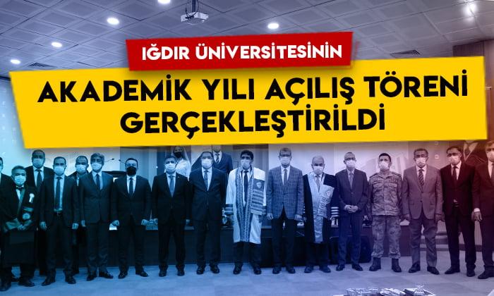 Iğdır Üniversitesinin akademik yılı açılış töreni gerçekleştirildi