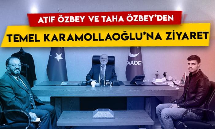 Atıf Özbey ve Taha Özbey'den Temel Karamollaoğlu'na ziyaret