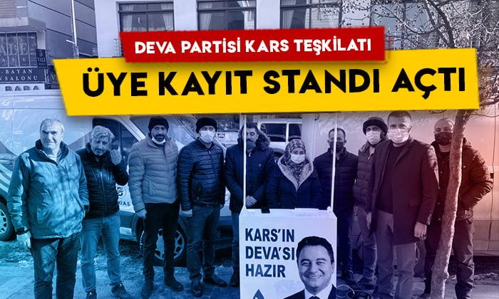 DEVA Partisi Kars teşkilatı üye kayıt standı açtı