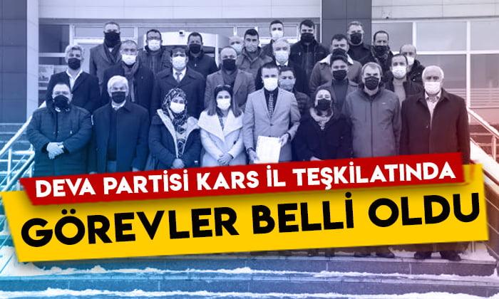 DEVA Partisi Kars il teşkilatında görev dağılımı yapıldı