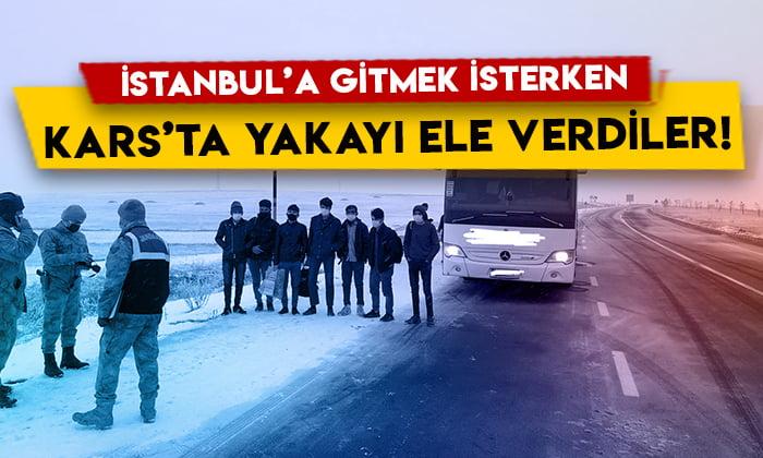 İstanbul'a gitmek isterken Kars'ta yakayı ele verdiler!
