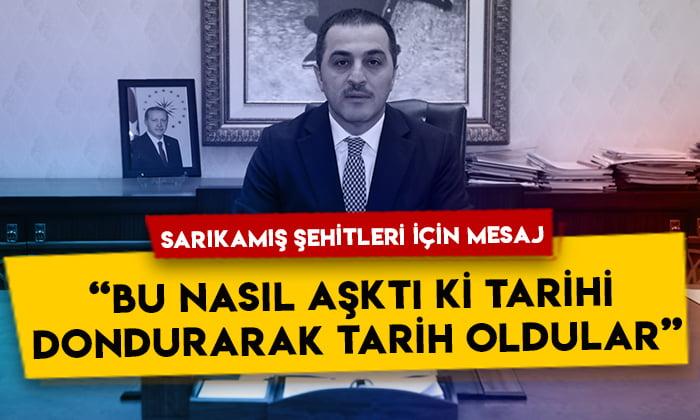 Vali Türker Öksüz Sarıkamış şehitleri için bir mesaj yayımladı