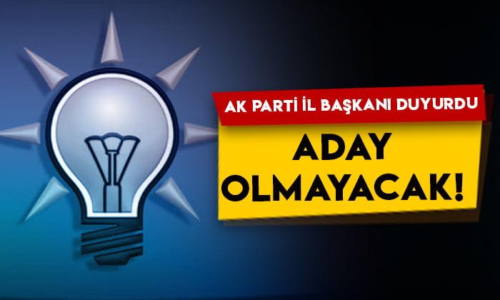 AK Parti Ardahan İl Başkanı Hakan Aydın'dan flaş açıklama: Aday olmayacak!