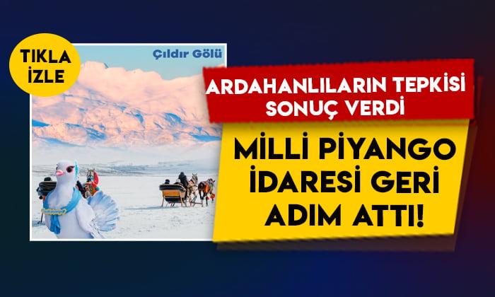 Ardahanlıların tepkisi sonuç verdi: Milli Piyango İdaresi'nden 'Çıldır Gölü' paylaşımı!