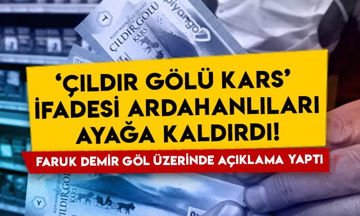 'Çıldır Gölü Kars' ifadesi Ardahanlıları ayağa kaldırdı: Başkan Faruk Demir göl üzerinde açıklama yaptı!