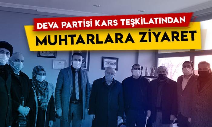 DEVA Partisi Kars teşkilatından mahalle muhtarlarına ziyaret