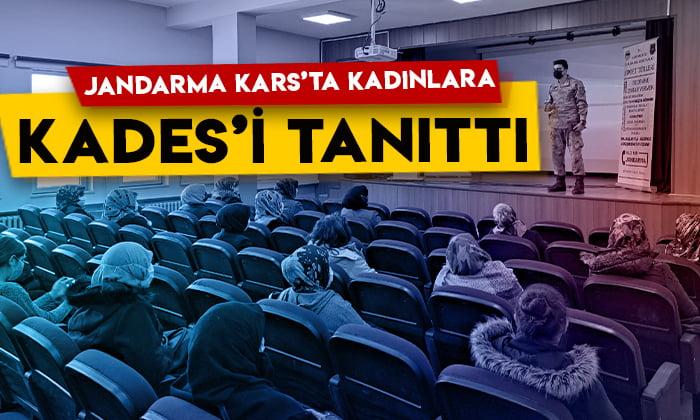 Jandarma Kars'ta kadınlara 'KADES' uygulamasını tanıttı