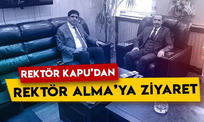 Kafkas Üniversitesi Rektörü Hüsnü Kapu'dan Iğdır Üniversitesi Rektörü Mehmet Hakkı Alma'ya ziyaret