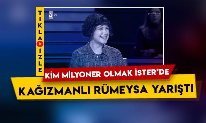 Kim Milyoner Olmak İster'de Kağızmanlı Rümeysa Toper yarıştı