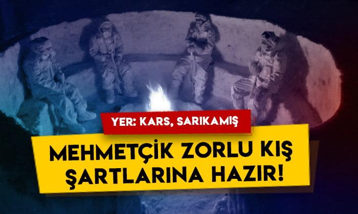 Yer: Kars Sarıkamış: Mehmetçik zorlu kış şartlarına hazır!