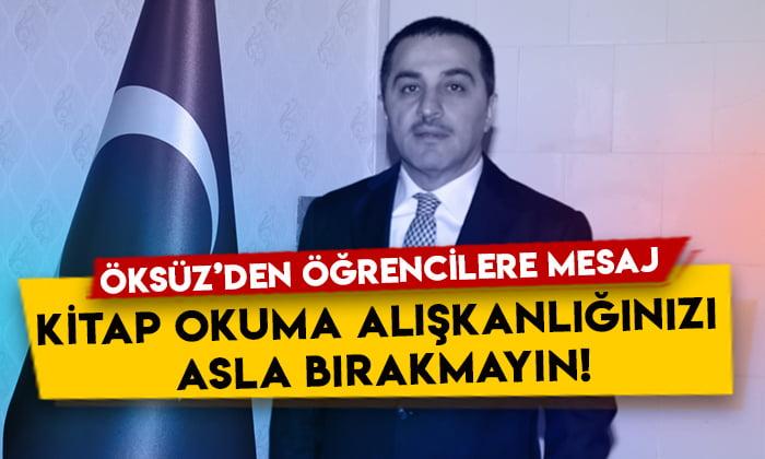 Vali Türker Öksüz'den öğrencilere mesaj: Kitap okuma alışkanlığınızı asla bırakmayın!