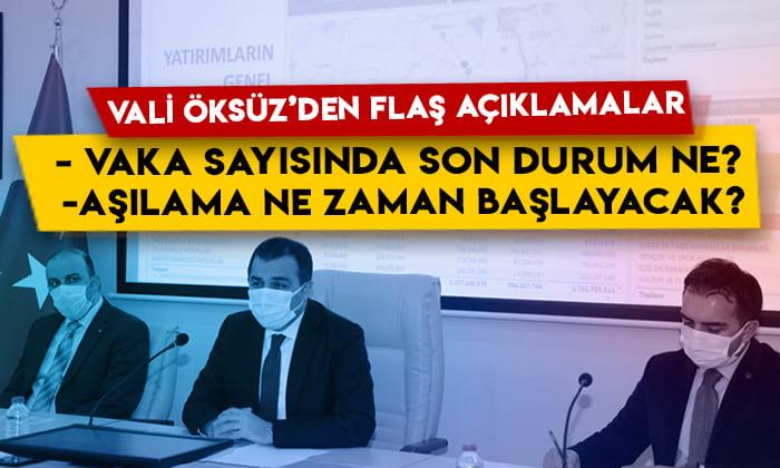 Vali Türker Öksüz'den flaş açıklamalar: Kars'ta vaka sayısında son durum ne? Aşılama ne zaman başlayacak?