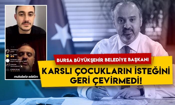 Bursa Büyükşehir Belediye Başkanı Alinur Aktaş Karslı çocukların isteğini geri çevirmedi: Sözümüz söz!