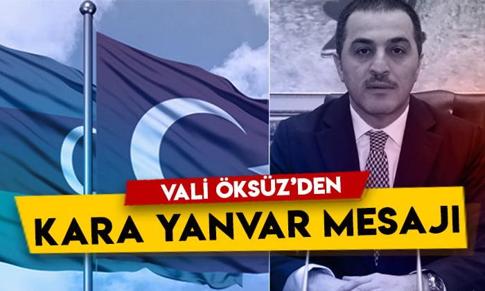 Kars Valisi Türker Öksüz'den Kara Yanvar mesajı