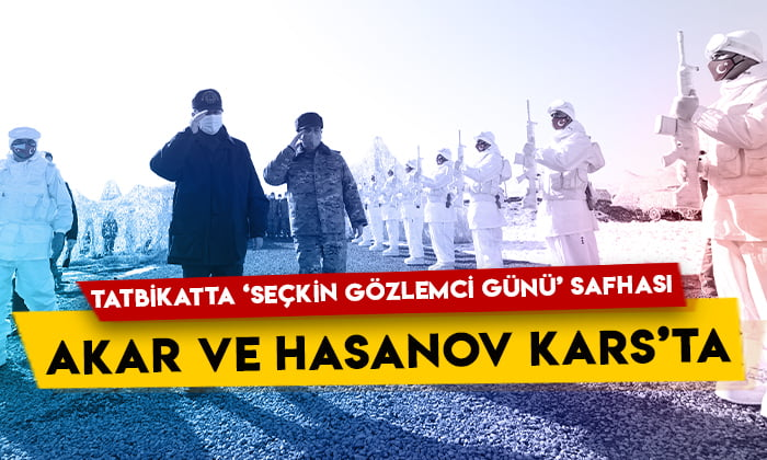 Milli Savunma Bakanı Hulusi Akar ve Azerbaycan Savunma Bakanı Zakir Hasanov Kars'ta