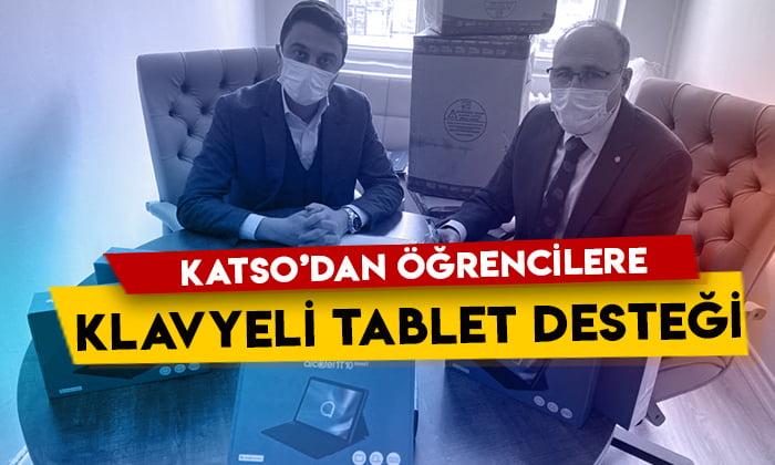 KATSO'dan öğrencilere klavyeli tablet desteği