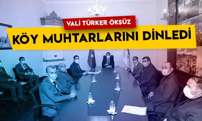 Kars Valisi Türker Öksüz köy muhtarlarını dinledi