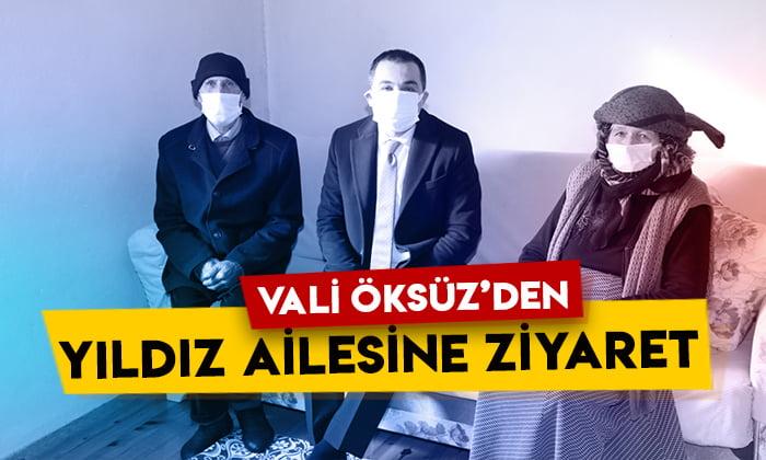 Kars Valisi Türker Öksüz'den Yıldız ailesine ziyaret
