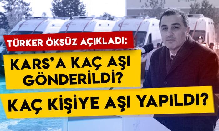 Türker Öksüz açıkladı: Kars'a kaç aşı gönderildi, kaç kişiye aşı yapıldı?