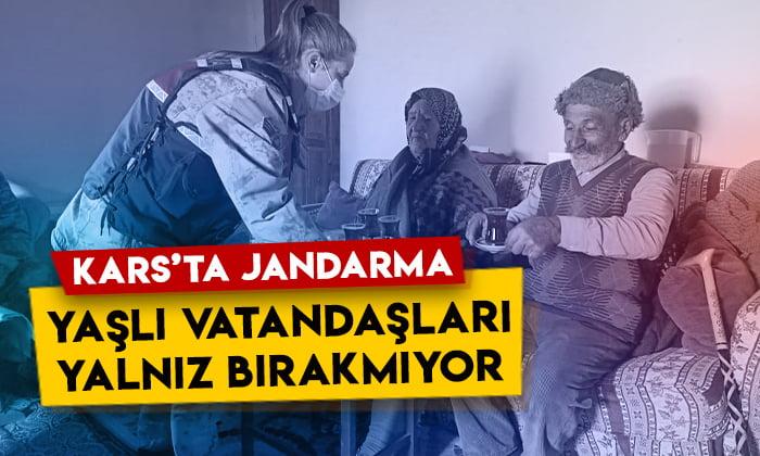 Kars'ta Jandarma yaşlı vatandaşları yalnız bırakmıyor
