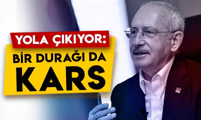 Kemal Kılıçdaroğlu yola çıkıyor: Bir durağı da Kars