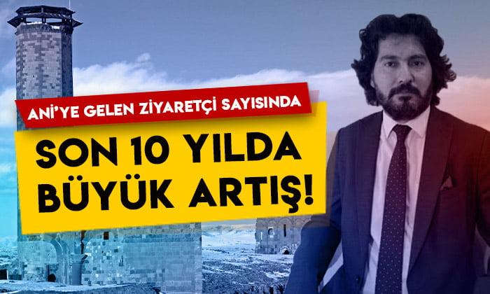 SERKA Genel Sekreteri İbrahim Taşdemir açıkladı: Ani'ye gelen ziyaretçi sayısında son 10 yılda büyük artış!