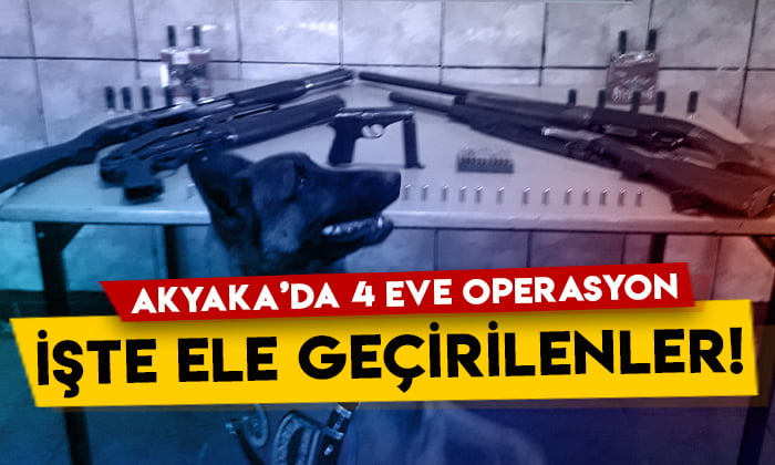 Kars'ın Akyaka ilçesinde 4 eve operasyon: İşte ele geçirilenler!