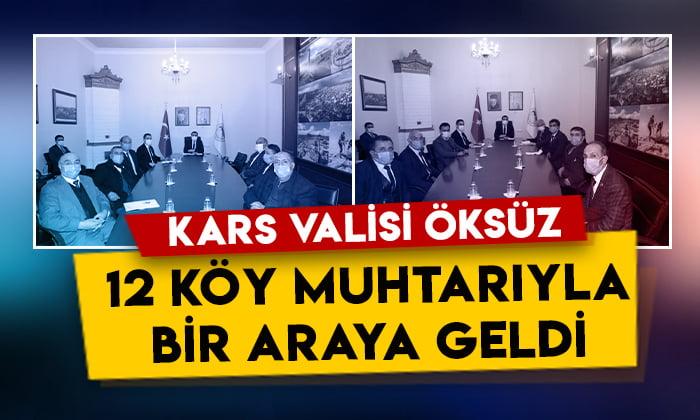 Kars Valisi Türker Öksüz, 12 köy muhtarıyla bir araya geldi