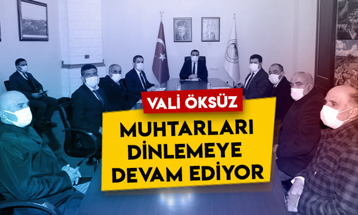 Kars Valisi Türker Öksüz muhtarları dinlemeye devam ediyor