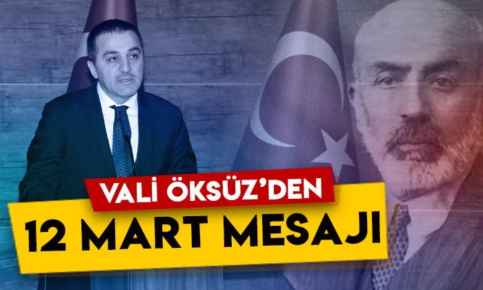 Kars Valisi Türker Öksüz'den 12 Mart mesajı