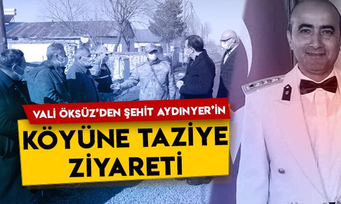 Kars Valisi Türker Öksüz'den şehit Albay Şentürk Aydınyer'in akrabalarına taziye ziyareti