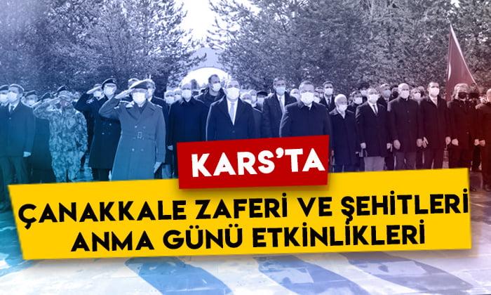Kars'ta Çanakkale Zaferi ve Şehitleri Anma Günü etkinlikleri