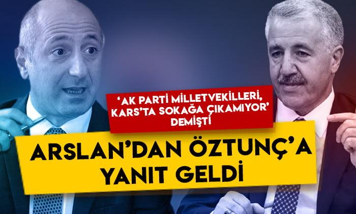 Ahmet Arslan'dan 'AK Parti Milletvekilleri Kars'ta sokağa çıkamıyor' diyen CHP'li Öztunç'a yanıt