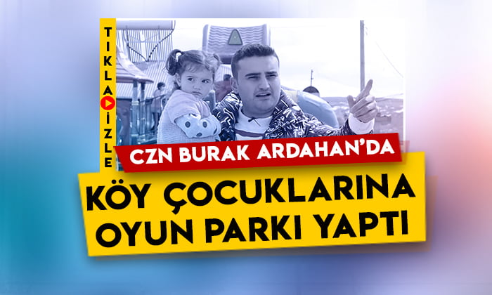 CZN Burak Ardahan'da köy çocuklarına oyun parkı yaptı