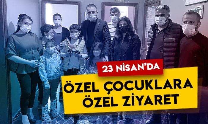 DEVA Partisi Kars İl Başkanı Güven Özen'den 23 Nisan'da özel çocuklara ziyaret