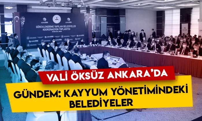 Kars Valisi Türker Öksüz, 'Görevlendirme Yapılan Belediyeler (Kayyum) Koordinasyon Toplantısı'na katıldı
