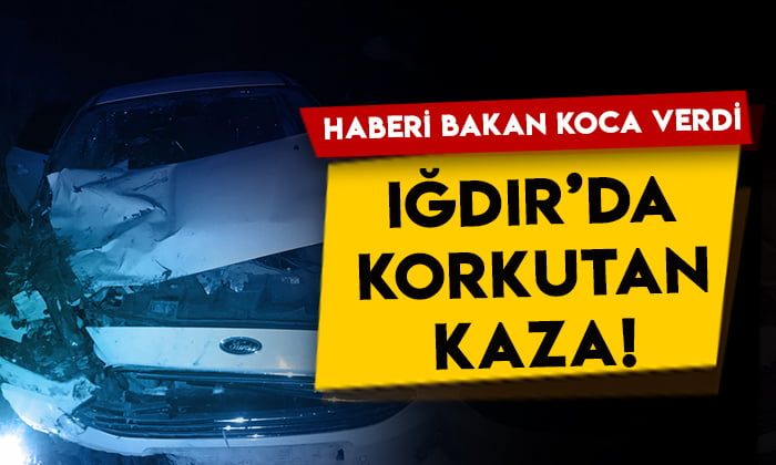 Iğdır'da sağlık çalışanlarını taşıyan araç kaza yaptı!
