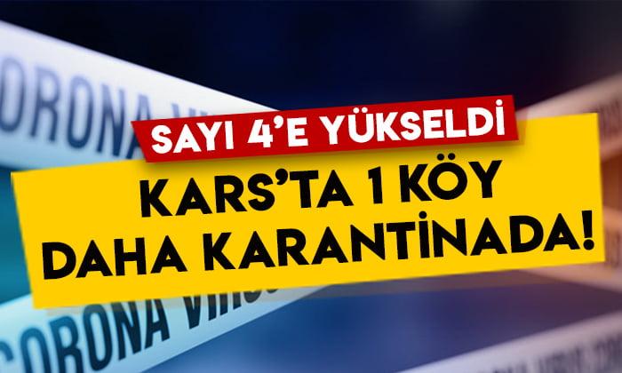 Kars'ta Kağızman Aydınkavak köyü karantinaya alındı!